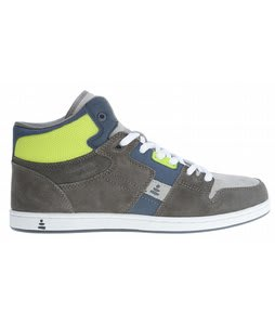 Praxis Freestyle Skate Shoes Grey Suede/Lime