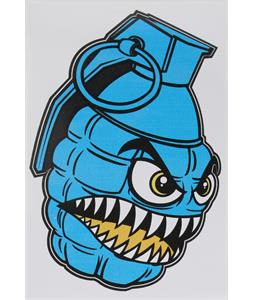 Grenade Printed Chomper Stickers Cyan 4in