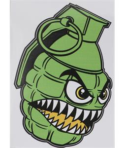 Grenade Printed Chomper Stickers Green 4in