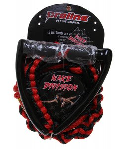 Proline Lg Surf 8 Braided Wake Surf Handle w/ 3 Section Red 20Ft