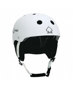 Protec Classic Snowboard Helmet Matte White