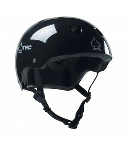 Protec Classic Skate Helmet Gloss Black