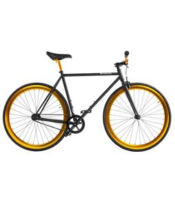 Pure Fix India Fixed Gear Bike Matte Black/Gold 47cm/18.5in