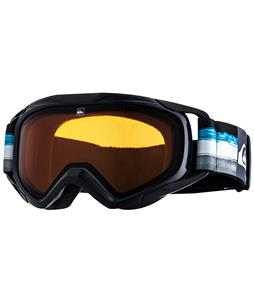 Quiksilver Eagle Goggles Black/Blue/Orange Lens