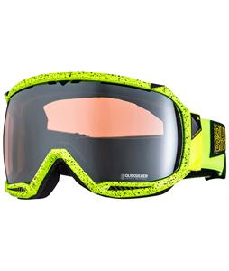 Quiksilver Hubble Goggles Black/Flouro Yellow/HD Mirror Lens