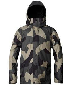 Quiksilver Mission Snowboard Jacket Macroflague Army