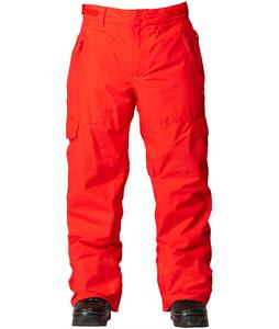 Quiksilver Portland Insulated Snowboard Pants Fiery Red