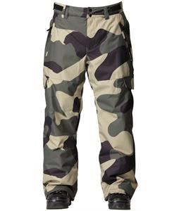 Quiksilver Portland Snowboard Pants Macroflague Army
