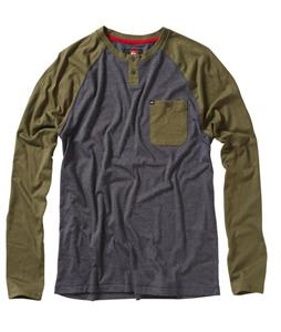 Quiksilver Ah Shucks Raglan Fatigue Green