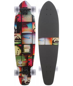 Quiksilver Audit In Progress Longboard Skateboard White