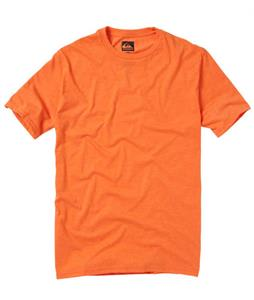 Quiksilver Blank Crew T-Shirt Orange Bang