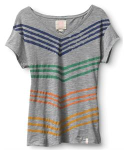 Quiksilver Board Stripe Drape Vee T-Shirt Light Heather Grey