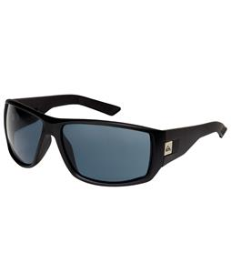Quiksilver Burnout Sunglasses Black Half Matte/Grey Lens