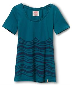 Quiksilver Currents Crew T-Shirt Teal