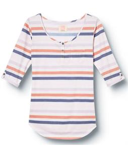 Quiksilver Dusk To Dawn Henley Dawn Stripe/Ivory