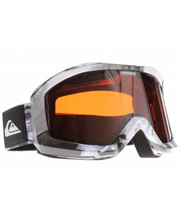 Quiksilver Fenom Goggles White w/ Orange/Chrome Lens