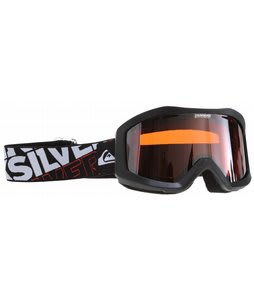 Quiksilver Fenom Goggles Black w/ Orange/Chrome Lens