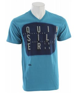 Quiksilver Origin Slim Fit Vneck T-Shirt Bay Blue