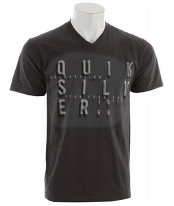 Quiksilver Origin Slim Fit Vneck T-Shirt Dark Charcoal