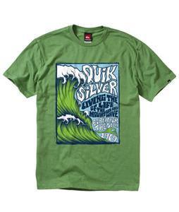 Quiksilver Out The Back T-Shirt Gecko Green