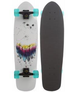 Roxy Owly Longboard Skateboard White