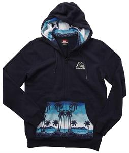 Quiksilver Patches Zip Hoodie Navy