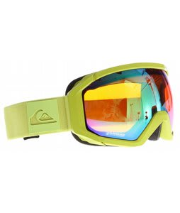 Quiksilver Q2 Goggles Lime w/ Orange/Multilayer Green Lens