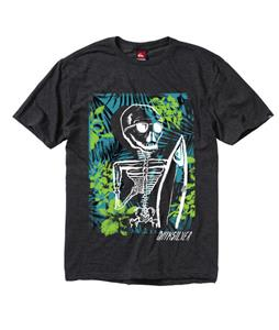 Quiksilver Skull And Roses T-Shirt Charcoal Heather