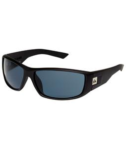 Quiksilver Slink Sunglasses Black Half Matte/Grey Lens