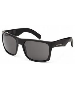 Quiksilver Snag Injected Sunglasses Shiny Black/Grey Lens