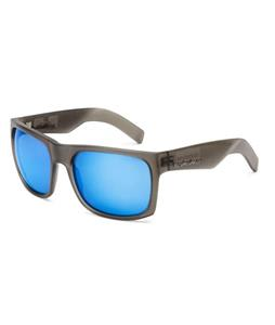 Quiksilver Snag Injected Sunglasses Transparent Black/Blue Chrome Lens
