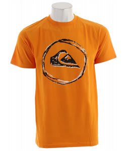 Quiksilver Stamp And Stain T-Shirt Orange Peel