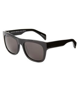 Quiksilver Trenton Sunglasses Shiny Black/Grey Lens