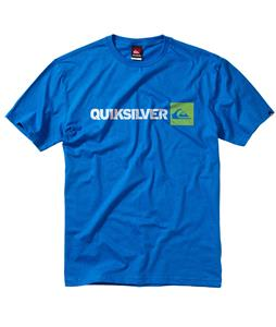 Quiksilver Wordmarked T-Shirt Blue Velvet