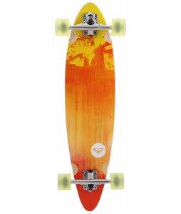 Roxy 70's Sled Longboard Skateboard White