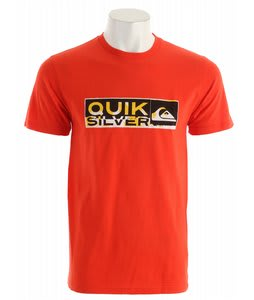Quiksilver Drawing Near Slim T-Shirt Orange Bange