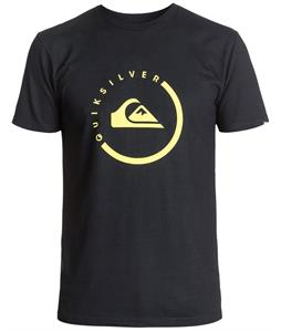 Quiksilver Everyday Active Black T-Shirt Black/Yellow