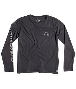 Quiksilver Garment Dyed Bubble Logo L/S T-Shirt
