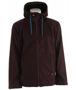 Quiksilver Hoody Softshell Jacket Burgundy