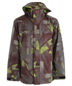 Quiksilver Last Mission Prints Insulated Snowboard Jacket Burgundy Bomba