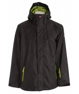 Quiksilver Last Mission Prints Shell Snowboard Jacket Black Magazine