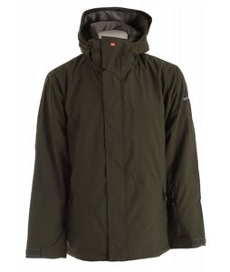 Quiksilver Last Mission Solids Insulated Snowboard Jacket Dark Army