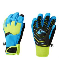 Quiksilver Method Gloves Brilliant Blue/Lime Green/Black