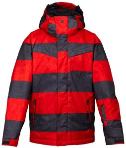 Quiksilver Mission Printed Insulated Snowboard Jacket Smith Red