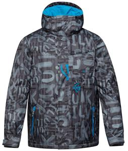 Quiksilver Mission Printed Insulated Snowboard Jacket The Line Asphalt