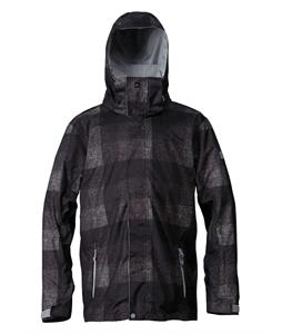 Quiksilver Mission Insulated Snowboard Jacket Irish Plaid