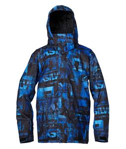 Quiksilver Mission Insulated Snowboard Jacket Leftover Blue
