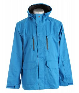 Quiksilver Piranha Shell Snowboard Jacket Azul Blue