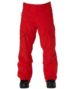 Quiksilver Porter Insulated Snowboard Pants Fiery Red