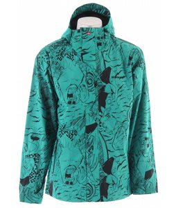 Quiksilver Tracker Print Shell Snowboard Jacket Aqua Taylor Reeve